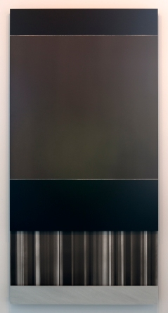 Memory Stick..? (2011), Charcoal and Acrylic on Aluminum, 2ft x 4ft