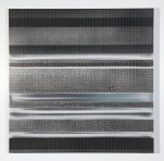 """A Manufactured Landscape: Colony (2014) Charcoal and Acrylic on Aluminum, 24""""x24"""""""